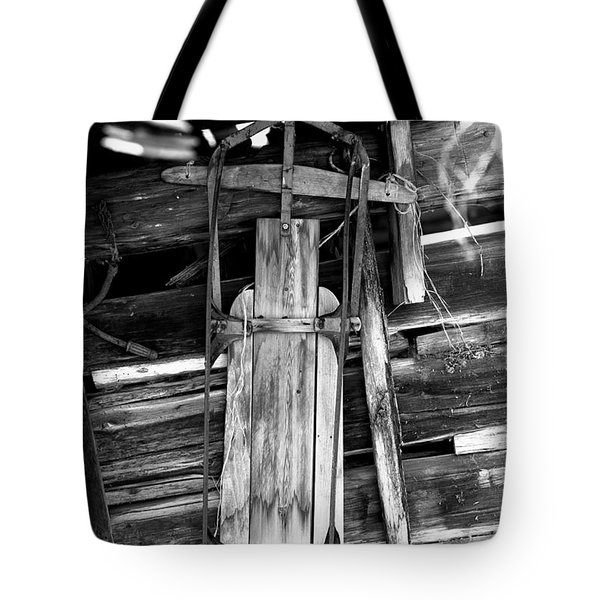 Retired Snow Sled Tote Bag
