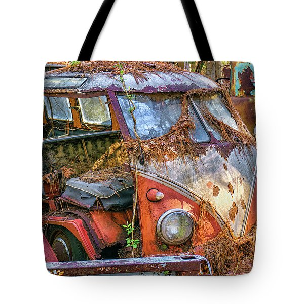 Retired Vw Bus Tote Bag