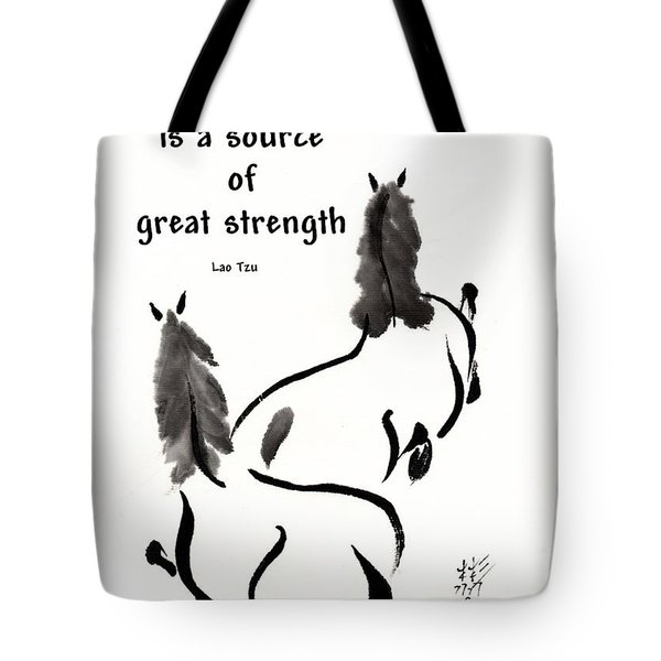 Tote Bag featuring the painting Retired With Lao Tzu Quote IIi by Bill Searle