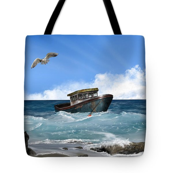 Tote Bag featuring the digital art Retiring From The Fleet by Mark Taylor