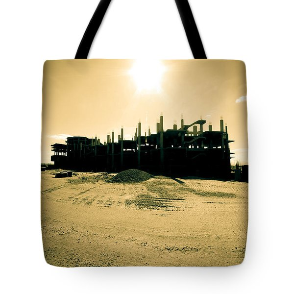 Tote Bag featuring the photograph Retiring Resorting by Jez C Self