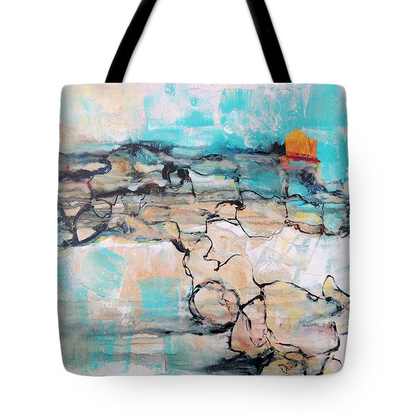 Tote Bag featuring the painting Retreat by Mary Schiros