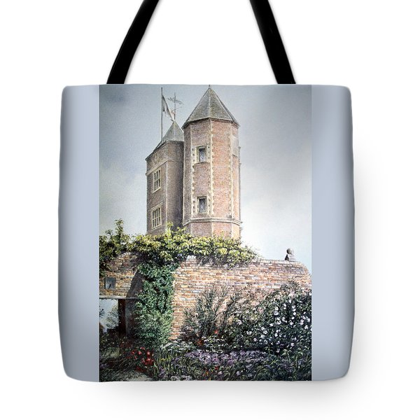 Tote Bag featuring the painting Retreat Of A Writer by Rosemary Colyer
