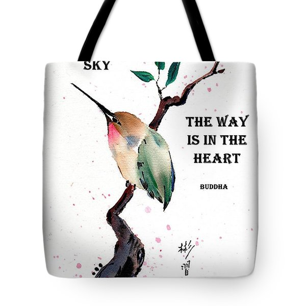 Retreat With Buddha Quote Tote Bag