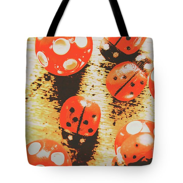 Retro Art Bug Tote Bag