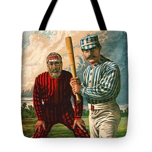 Retro Baseball Game Ad 1885 B Tote Bag