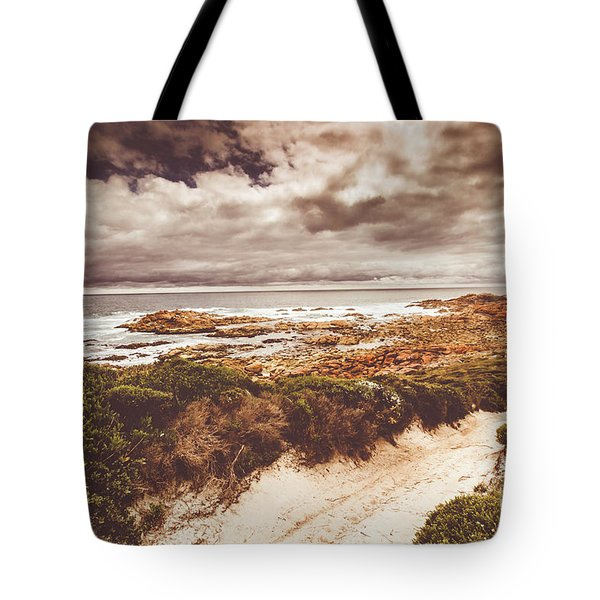 Retro Beach Tracks Tote Bag