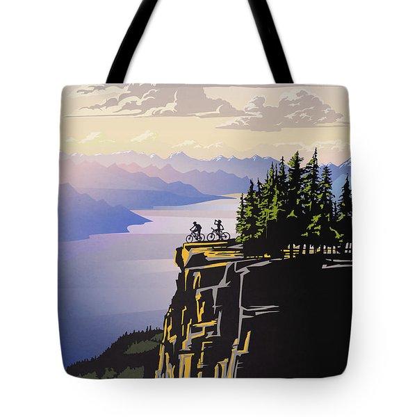 Retro Beautiful Bc Travel Poster Tote Bag
