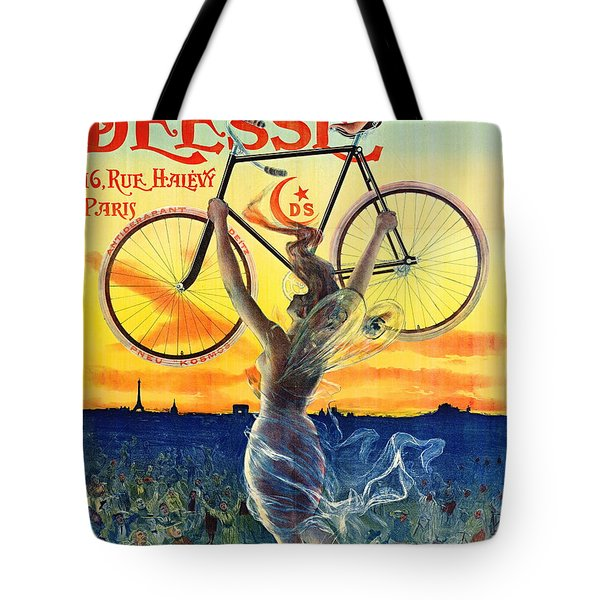 Tote Bag featuring the photograph Retro Bicycle Ad 1898 by Padre Art