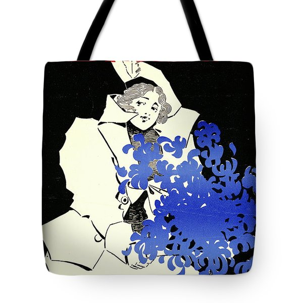 Tote Bag featuring the photograph Retro Bicycle Cover 1896 by Padre Art