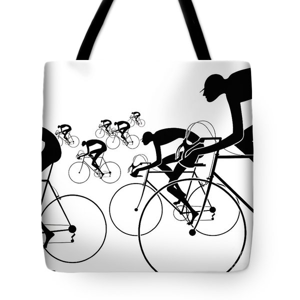 Tote Bag featuring the photograph Retro Bicycle Silhouettes 1986 by Padre Art