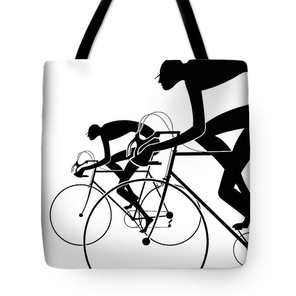 Tote Bag featuring the photograph Retro Bicycle Silhouettes 2 1986 by Padre Art