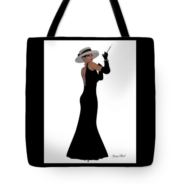 Retro Black Dress Tote Bag