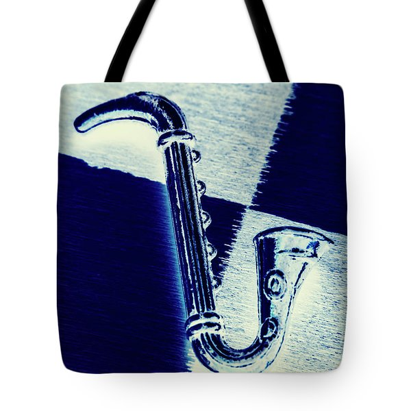 Retro Blues Tote Bag