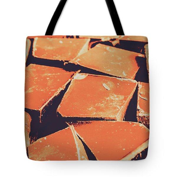 Retro Chocolate Squares Tote Bag