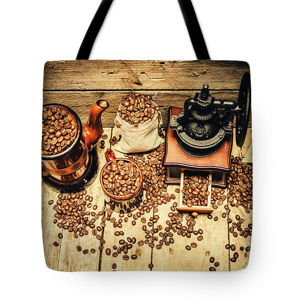 Retro Coffee Bean Mill Tote Bag by Jorgo Photography - Wall Art Gallery
