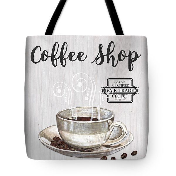 Tote Bag featuring the painting Retro Coffee Shop 1 by Debbie DeWitt