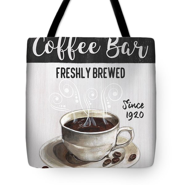 Tote Bag featuring the painting Retro Coffee Shop 2 by Debbie DeWitt