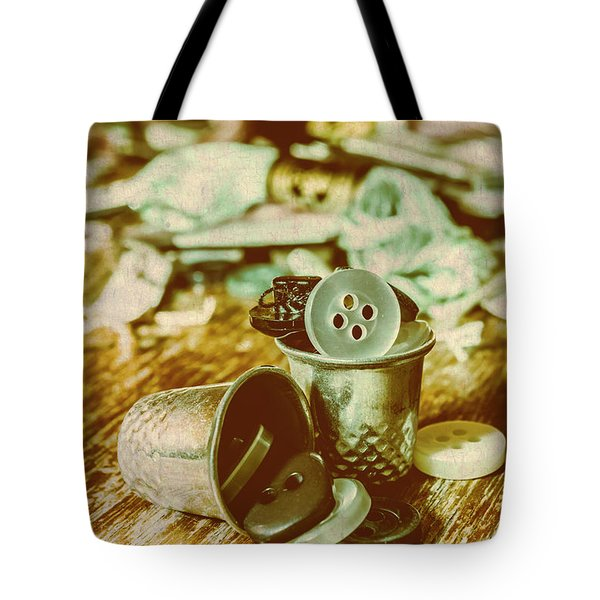 Retro Craft Buckets Tote Bag