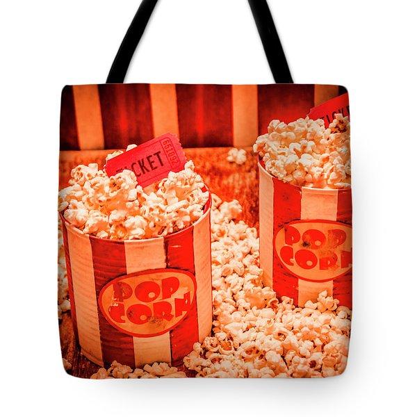 Retro Film And Entertainment Scene Tote Bag