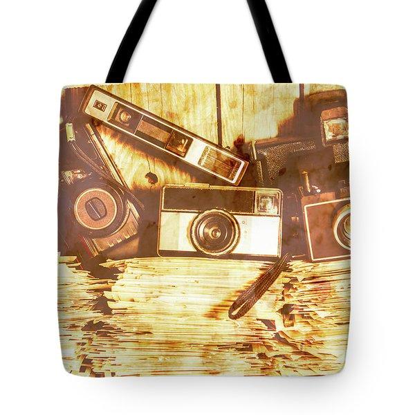 Retro Film Cameras Tote Bag