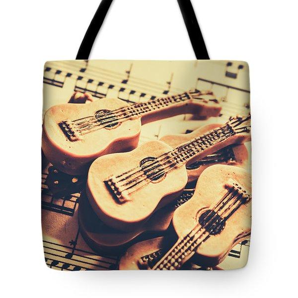 Retro Folk And Blues Tote Bag