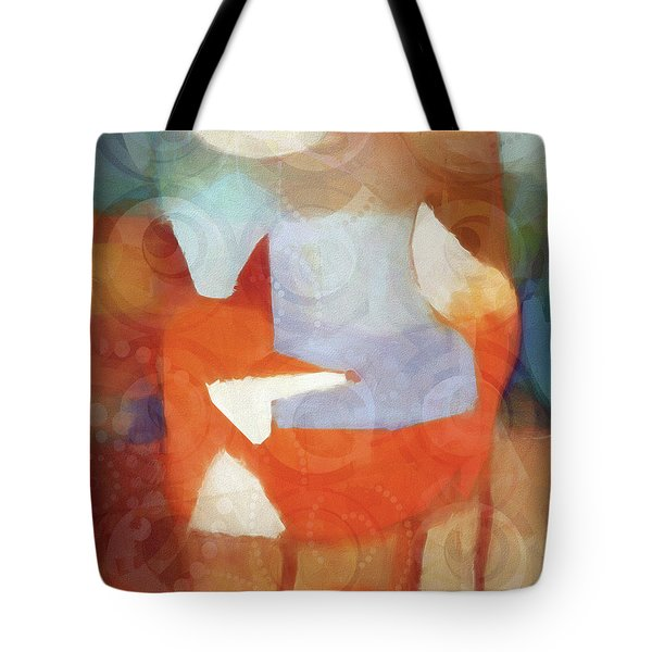 Retro Fox Tote Bag