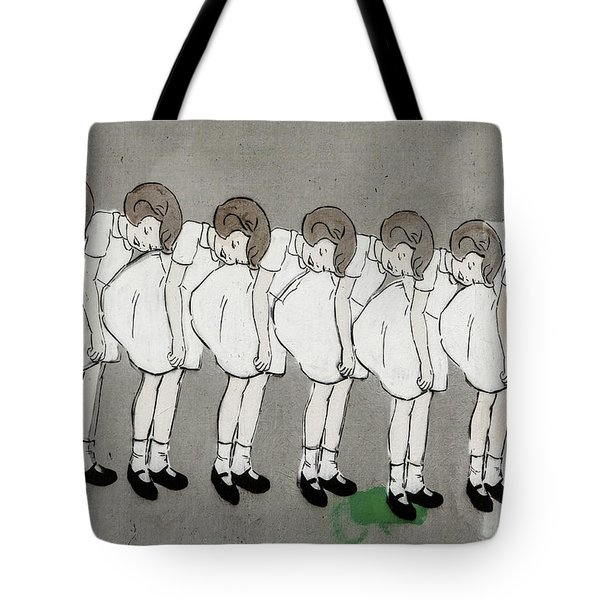 Tote Bag featuring the photograph Retro Girl by Art Block Collections