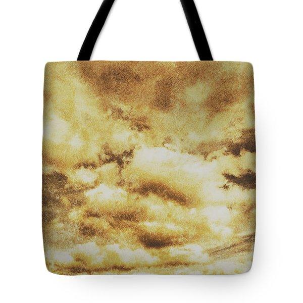 Retro Grunge Cloudy Sky Background Tote Bag