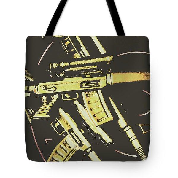 Retro Guns And Targets Tote Bag