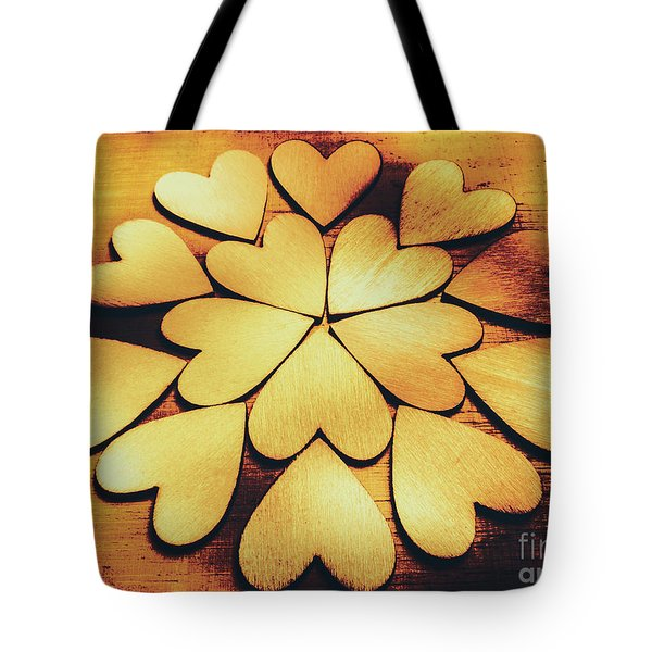 Retro Heart Connection Tote Bag