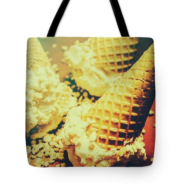 Retro Ice Cream Artwork Tote Bag