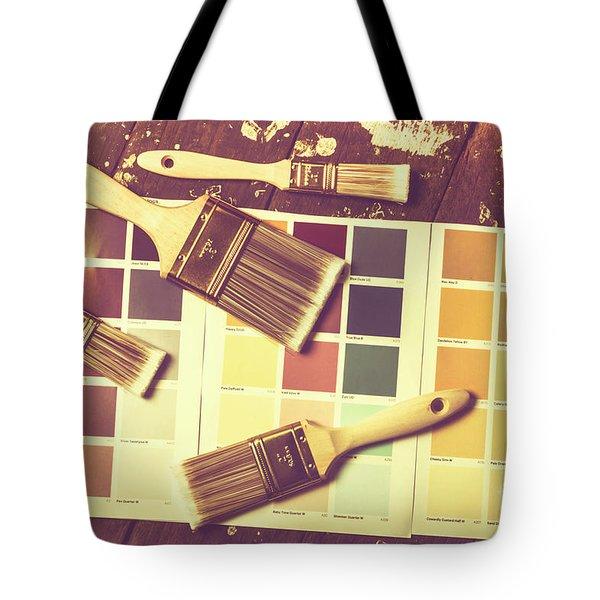 Retro Interior Design Tote Bag