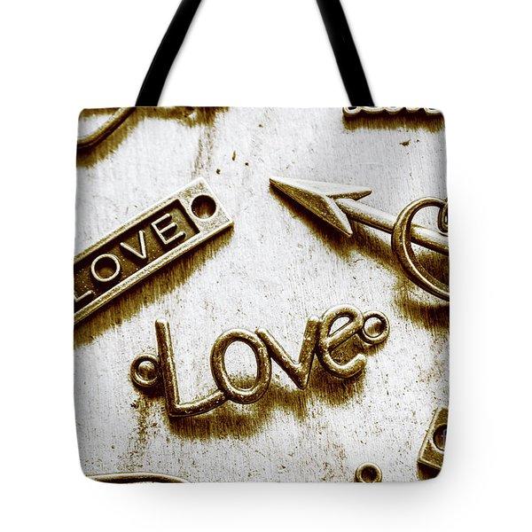 Retro Love Heart Jewels  Tote Bag