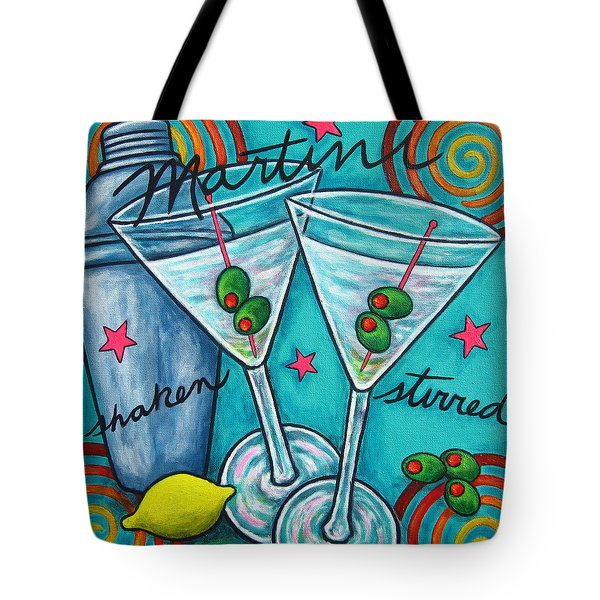 Retro Martini Tote Bag by Lisa  Lorenz