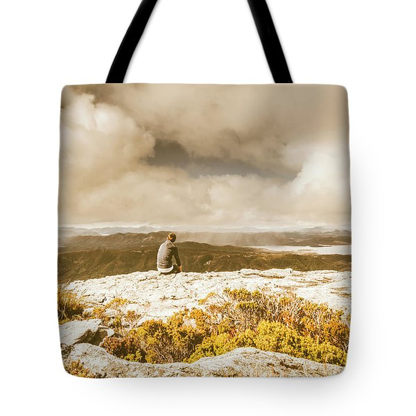 Retro Mountaintop Views Tote Bag