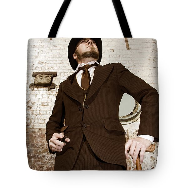 Tote Bag featuring the photograph Retro Nobel Man by Jorgo Photography - Wall Art Gallery
