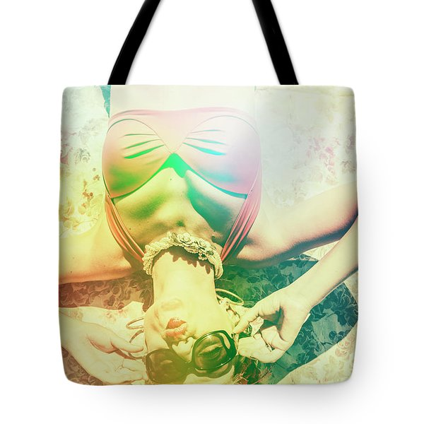 Retro Pin-up Pool Party Tote Bag