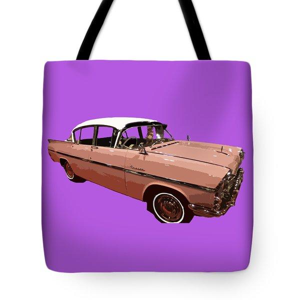 Retro Pink Car Art Tote Bag