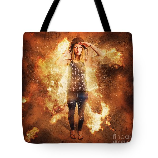 Retro Pinup Girl Soldier With Fashion Pride Tote Bag