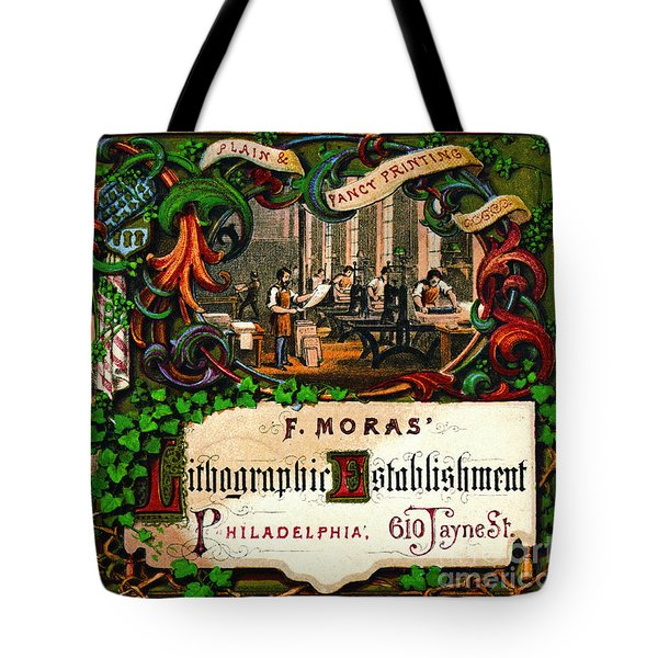 Tote Bag featuring the photograph Retro Printing Ad 1867 by Padre Art