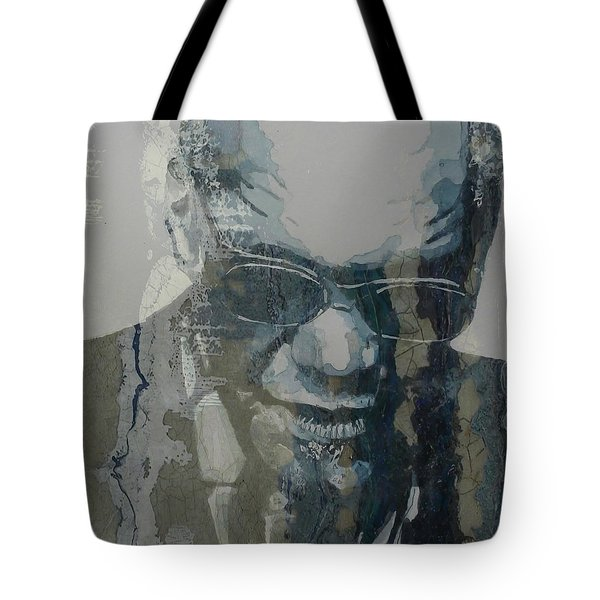 Retro / Ray Charles  Tote Bag