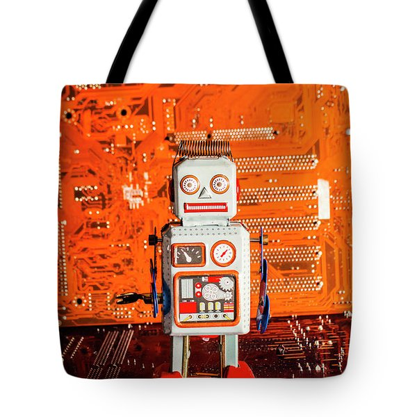 Retro Robotic Nostalgia Tote Bag