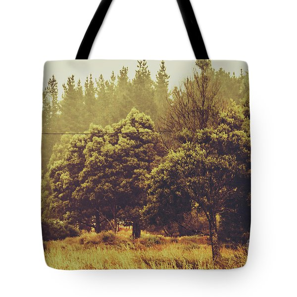 Retro Rural Tasmania Scene Tote Bag