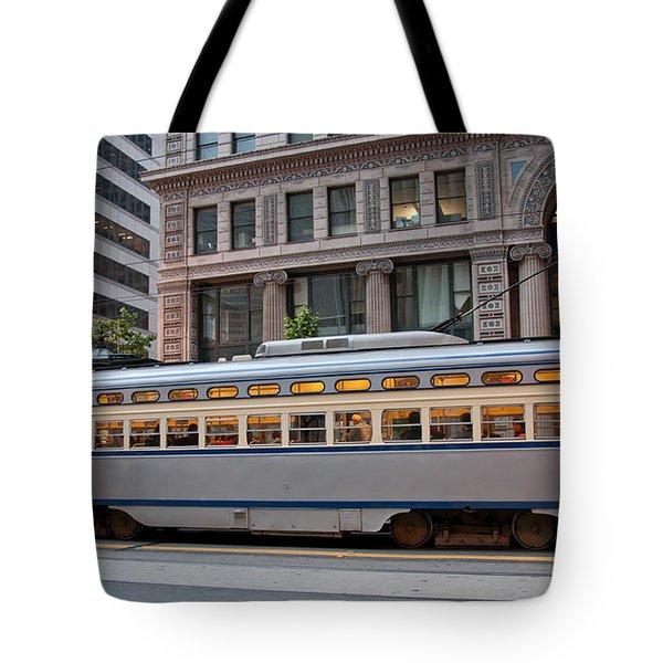 Retro San Francisco Streetcar Tote Bag