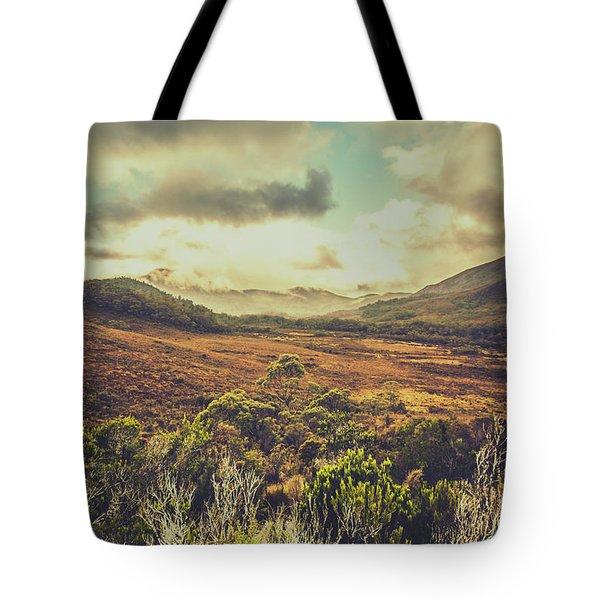 Retro Scenic Wilderness Tote Bag