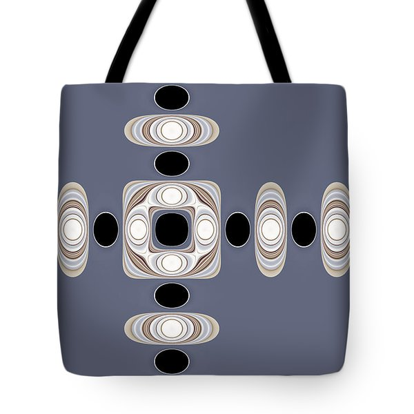 Tote Bag featuring the digital art Retro Shapes 1 by Fran Riley