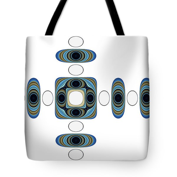 Tote Bag featuring the digital art Retro Shapes 2 by Fran Riley