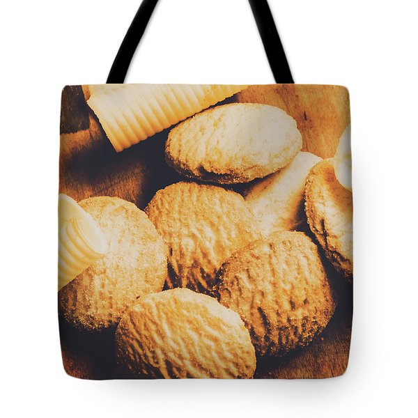 Retro Shortbread Biscuits In Old Kitchen Tote Bag