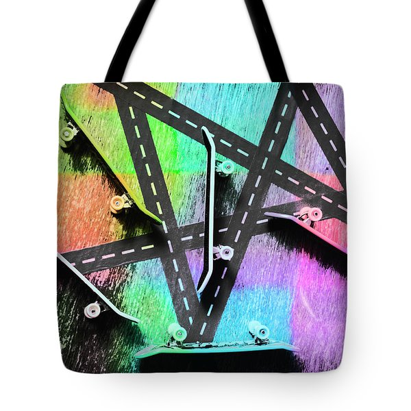 Retro Skaters Parade Tote Bag